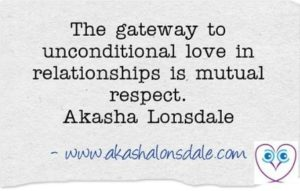 Akasha Lonsdale's quote on respect