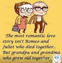 Old Couple - romantic love